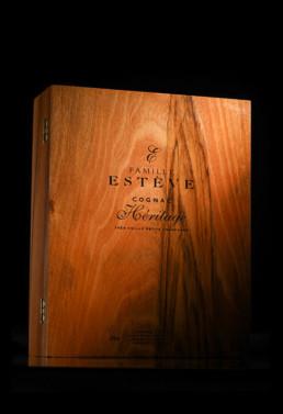 Gravure sur bois : coffret bois Cognac Heritage