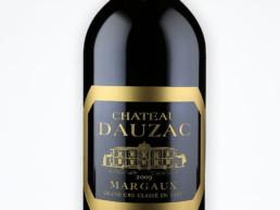 Gravure sure verre magnum Chateau Dauzac. Une réalisation MSV, technique de Micro Sablage Verrier.